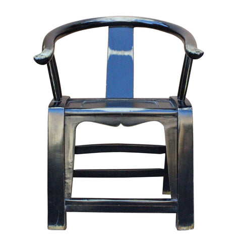 black horse shoe chair