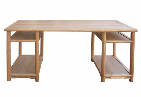 Long Natural Wood Painting Table Office Writing Desk cs371S