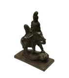 bronze Kwan Yin on elephant - Bodhisattva -  goddess of mercy - goddess of compassion