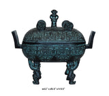 Chinese Oriental Green Bronze-ware Home Decor Display cs3761S
