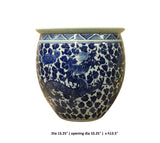 Chinese Blue White Dragon Flower Porcelain Pot Vase cs3783S