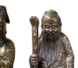 Chinese Fine Bronze Metal SanXing ( 3 Deities ) Fu Lu Shou Statue Set cs3865S
