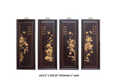 4 pieces wood wall art scenery bird, flower panel