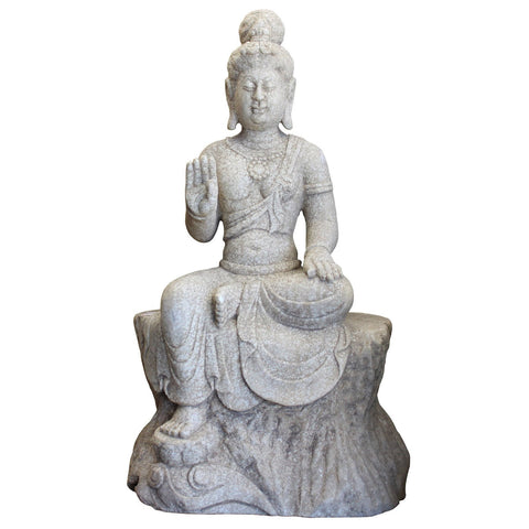 stone Kwan Yin - Bodhisattva -  goddess of mercy - goddess of compassion