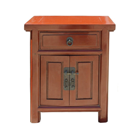 orange color night stand