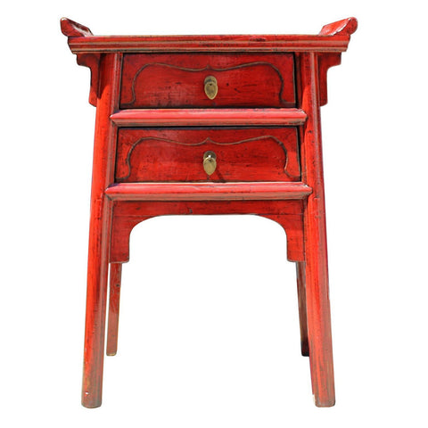 red side table | end table