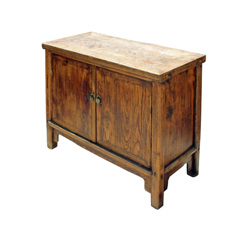 ... Oriental Plain Rough Raw Wood Low Console Table Cabinet Cs3946S ...