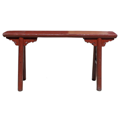 antique Chinese long bench