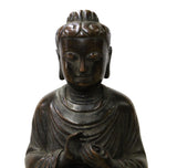 Handmade Bronze Vintage Finish Decent Look Sitting Buddha Statue cs3954CS