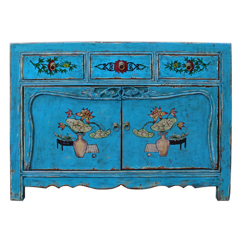 antique Chinese blue dresser