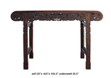 Chinese Brown Huali Rosewood Scroll Dragons Altar Table cs3982S