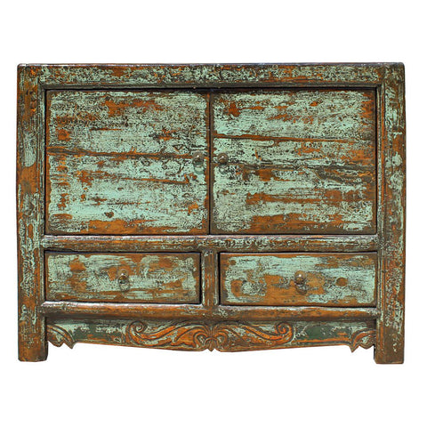 green brown living room cabinet