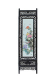4 Pieces Porcelain Flower Birds Theme Wood Frame Screen Panel Headboard cs4043S
