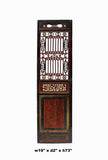 Chinese Gold Red Brown Graphic Carving Wood Decor Panel cs4047S