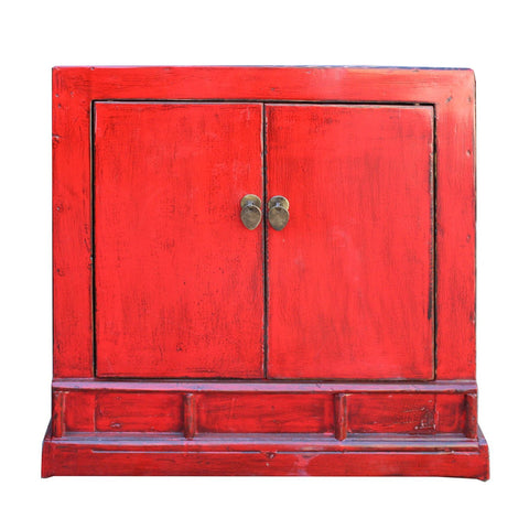 red trunk cabinet