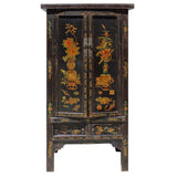 antique flower armoire