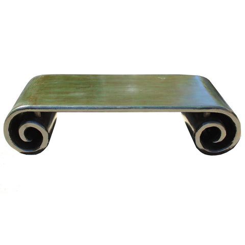 low scroll coffee table