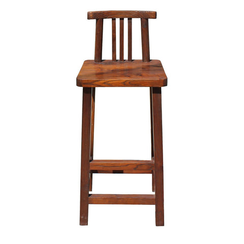 natural wood tall stool