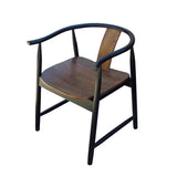 Asian rosewood horse shoe chair
