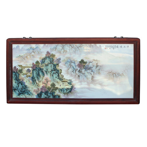 nature scenery porcelain painting wall art