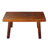 brown color heavy wood bench