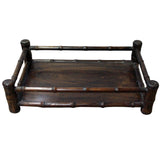 Chinese Brown Wood Carved Rectangular Table Top Stand Display Easel cs4208S