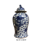 porcelain blue and white general jar dragon painting