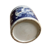 Chinese Blue & White Porcelain Flower Bird Brush Holder Pot cs4226S