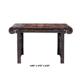 rosewood living room narrow table