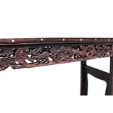 carved rosewood narrow hallway buffer table