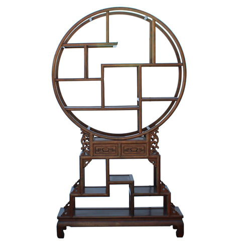 Asian modern round shape display cabinet