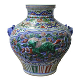 carved flower porcelain vase