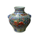 carved flower dragon porcelain vase