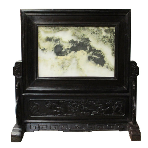 Chinese Dream Stone Fengshui Rectangular Table Top Display Art cs4267S