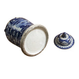 Chinese Blue & White Scholars Theme Porcelain Large General Jar cs4282S