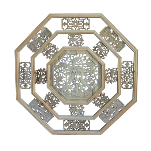 Chinese hexagon luyi feng shui wall panel