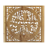 Chinese rectangular fish wood carved wall panel
