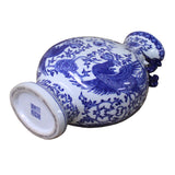 Chinese Blue White Porcelain Floral Bird Flask Shape Vase cs4288S