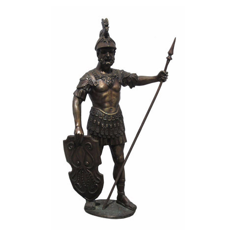 Standing Soldier With Shield And Spear