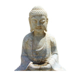 indoor - outdoor white stone Buddha statue
