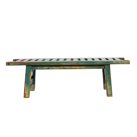 multi color modern wood bench