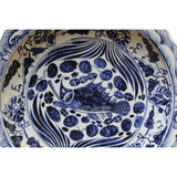 Chinese Blue & White Porcelain Oriental Scenery Display Charger Plate cs4403S