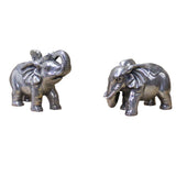 pair metal elephant statue