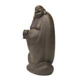 rosewood carved Happy Buddha statue