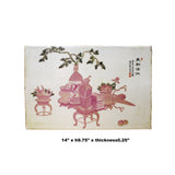 Oriental Handmade Porcelain Plaque Table Top Display