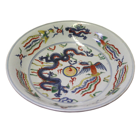 dragon painting large plate