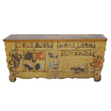 painted yellow antique cabinet
