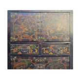 Chinese Distressed Brown People Scenery Graphic Storage Wardrobe Cabinet cs4565S