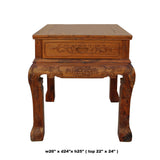 Chinese Oriental Huali Rosewood Flower Motif Tea Table Stand cs4578S