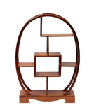 Chinese Rosewood Oval Small Table Top Curio Display Stand cs457S